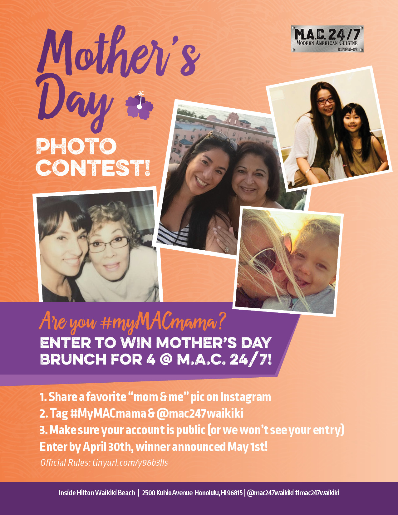 mother s day photo contest mac 24 7 restaurant bar