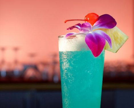 LBLE Lounge Menu - Blue Hawaii Cocktail