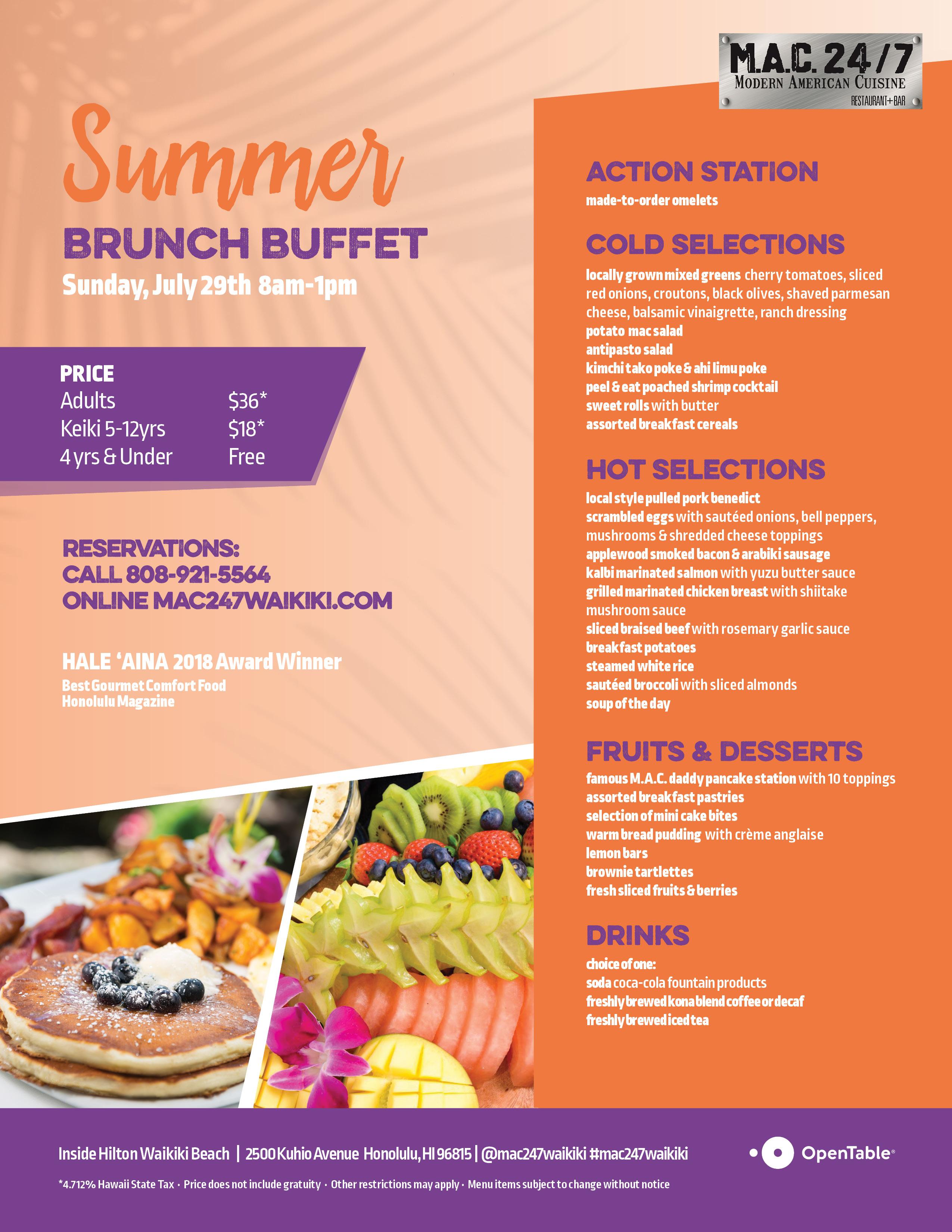 Surprising Summer Brunch Buffet Mac 24 7 Restaurant Bar Home Interior And Landscaping Ponolsignezvosmurscom