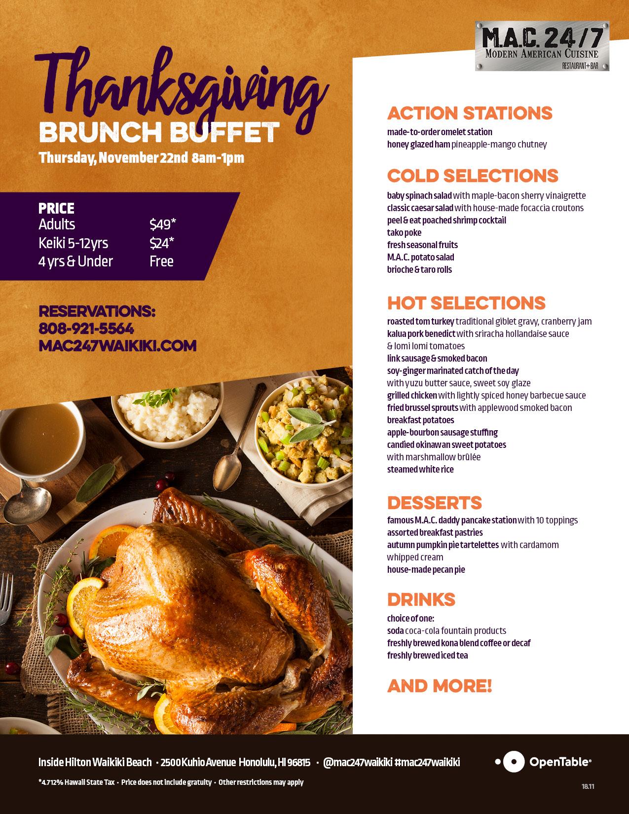 Remarkable Thanksgiving Brunch Buffet Mac 24 7 Restaurant Bar Home Interior And Landscaping Palasignezvosmurscom