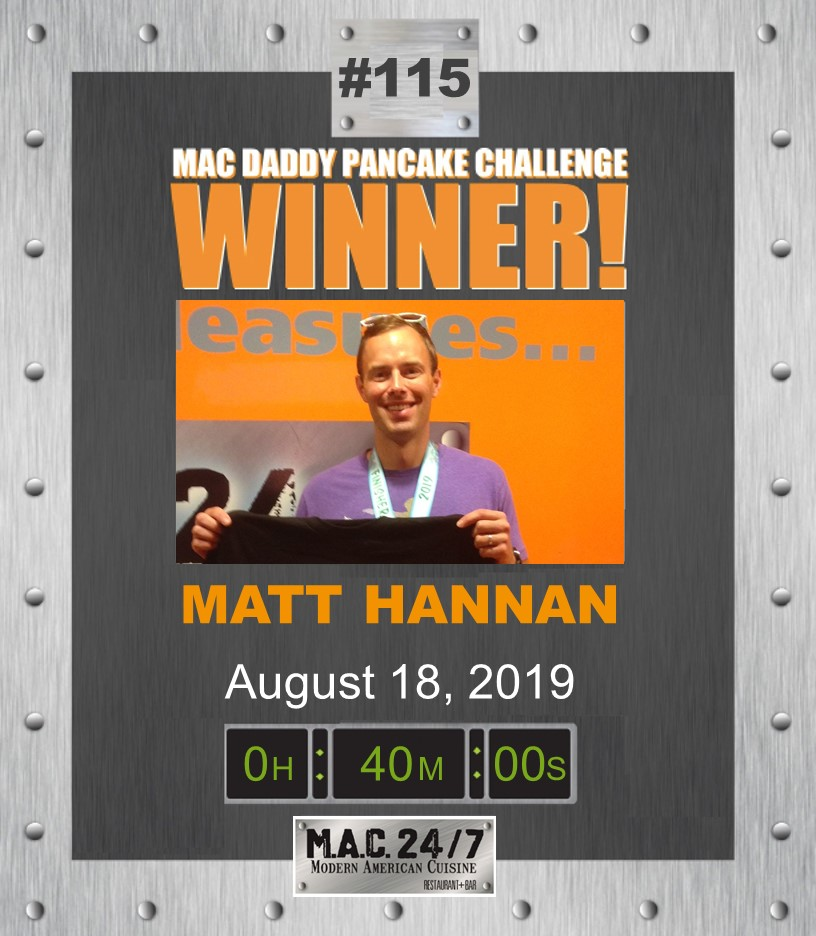 M.A.C. Daddy Pancake Champion Matt Hannan