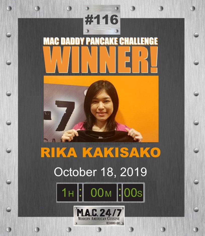 M.A.C. Daddy Pancake Challenge WInner Rika Kakisako