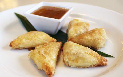LBLE Lounge - Goat Cheese Phyllo Triangles